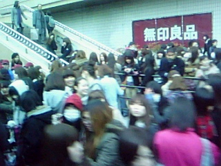地震直後の仙台市中心部