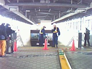 地下鉄南北線の被害現場説明会