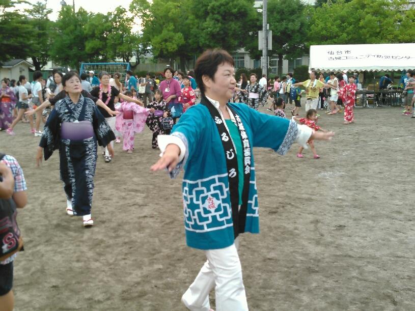 古城学区体育振興会盆踊り大会