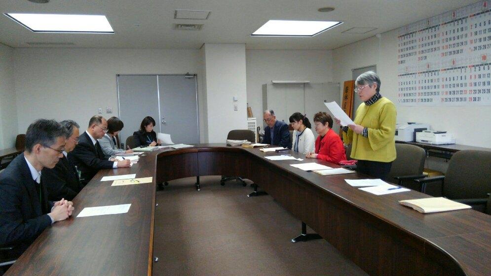 仙台市に来年度予算要求の要望書を提出しました